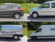 Liten personbil, liten varebil, større varebil og lastebil fra Bergen Bilutleie